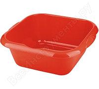 Квадратный пластмассовый таз 18л, красный Elfe Россия 92987