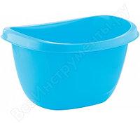 Овальный пластмассовый таз 16л, голубой Elfe light Россия 92988