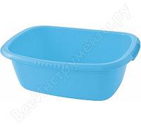 Прямоугольный пластмассовый таз 24л, голубой Elfe light Россия 92992