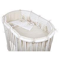 Комплект белья для овальной кроватки Pituso Мишки 6 предметов бежевый
