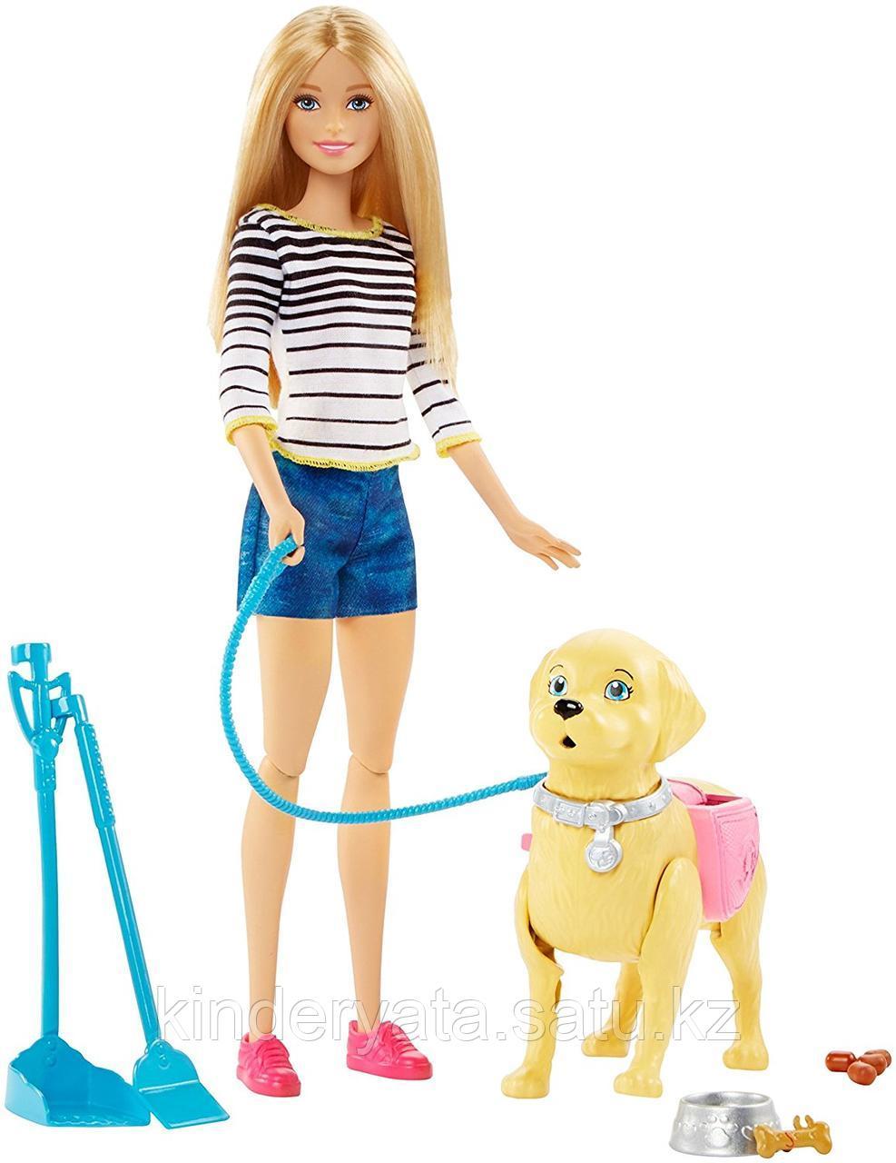 Кукла Барби Barbie Прогулка с щенком