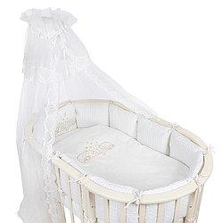 Комплект белья для овальной кроватки Pituso Звездочка 6 предметов бежевый