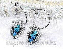 """Серьги """"Синие бабочки"""""""