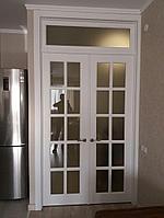 Межкомнатная дверь с фрамугой нестандартная