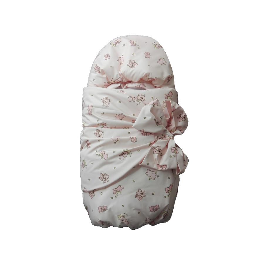 Комплект на выписку GulSara 7 предметов Мишки розовый
