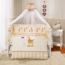 Комплект в кроватку Perina Кроха 7 предметов Жирафики