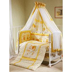 Комплект в кроватку Perina Ника Мишка на подушке 7 предметов бежевый