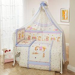 Комплект в кроватку Perina Ника Мишка на подушке 7 предметов лиловый