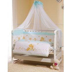 Комплект в кроватку Perina ФЕЯ Лето 7 предметов, голубой