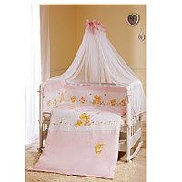 Комплект в кроватку Perina ФЕЯ Лето 7 предметов, розовый