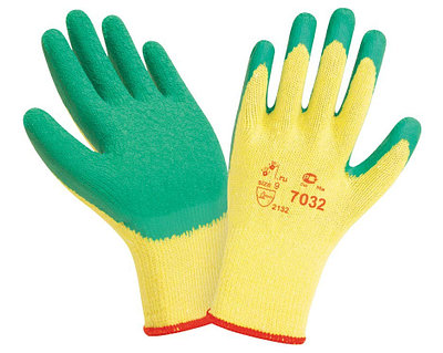 Перчатки рабочие х/б с 2-х слойным латексным покрытием