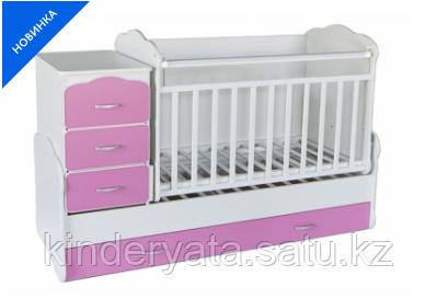 Детская кровать-трансформер 5-в-1 Танзания  с маятниковым механизмом