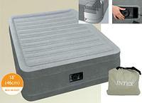 Кровать надувная Intex 152х203х46 см, max 273 кг Intex 64414, поверхность флок, встроенный насос