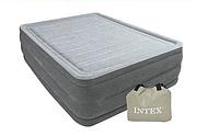Кровать надувная Intex 152х203х56 см, max 273 кг Intex 64418, поверхность флок, встроенный насос