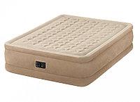Кровать надувная Intex 152х203х46 см, max 273 кг Intex 64458, поверхность флок, встроенный насос