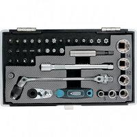 """Набор бит и головок торцевых, 1/4"""", карданный ключ, трещотка, адаптер, S2 37 шт. GROSS 11625 (002)"""