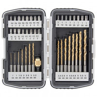 Набор бит и свёрел магнитный адаптер CrV  в пласт. боксе 40шт. MATRIX 1132 (002)