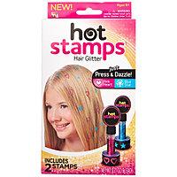 Блестящие тату для волос Hot Stamps, фото 1