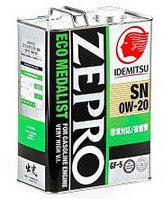Моторное масло IDEMITSU ZEPRO ECO MEDALIST 0w20 4 литра