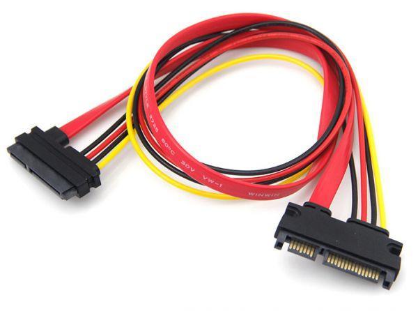 Кабель удлинитель SATA 22 pin (7+15 pin), с питанием, 45 см