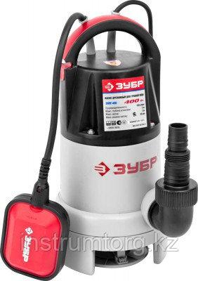 Насос ЗУБР погружной для грязной воды, пропускная способность 150 л/мин, 400Вт