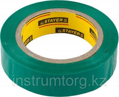 "Изолента STAYER ""MASTER"" зеленая, ПВХ, 5000 В, 15мм х 10м"
