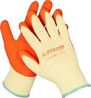 """Перчатки STAYER """"EXPERT""""  рабочие с рельефным латексным покрытием, 10 класс, S-M"""