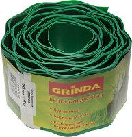 Лента бордюрная Grinda, цвет зеленый, 10 см х 9 м