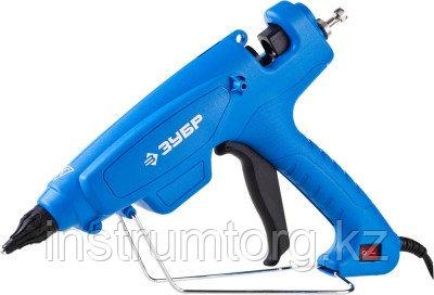 Пистолет ЗУБР клеевой (термоклеящий), эл, эргоном рукоятка, выключатель на рукоятке, рабоч темп 193град,