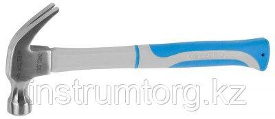 Молоток-гвоздодер ЗУБР с фиберглассовой двухкомпонентной рукояткой, 450гр