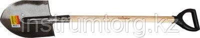 Лопата штыковая GRINDA 285х205х1200мм, черенок в/с, пласт. ручка