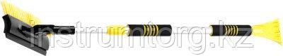 """Щетка-сметка автомобильная STAYER """"PROFI"""" для снега, телескопическая, поворотная, со скребком и водосгоном, 980-1450мм"""