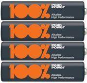 Батарейки LR03 АAA 4 шт 100% peak power alkaline