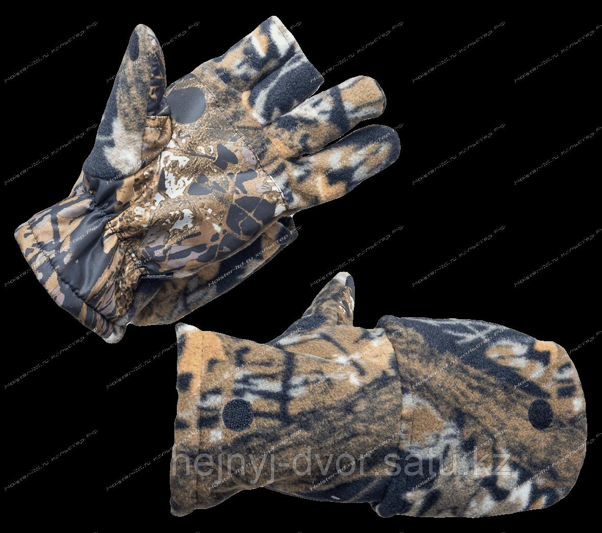 Перчатки Охотника-рыбака утепленные темный лес