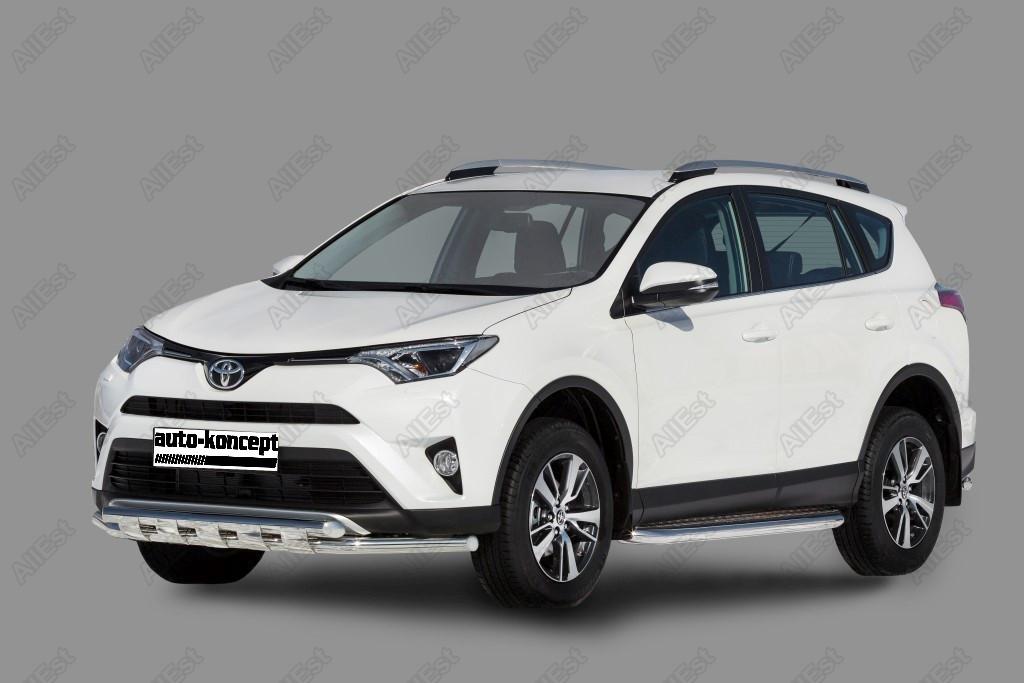 Передняя дуга с защитой Toyota RAV-4 2015- D 60,3x60,3