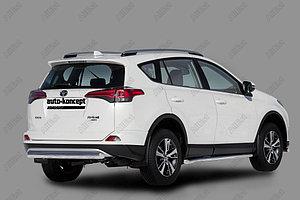 Защита заднего бампера Toyota RAV-4 2015- (Овал) D 75х42