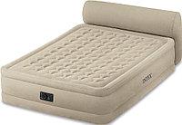 Кровать надувная Intex  152х229х79 см, max 273 кг Intex 64460,  поверхность флок, встроенный насос, фото 1