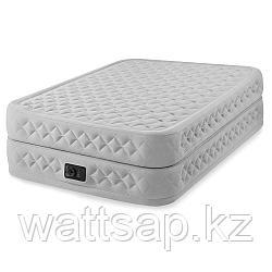 Кровать надувная Intex  152х203х51 см, max 273 кг Intex 64464, поверхность флок, встроенный насос