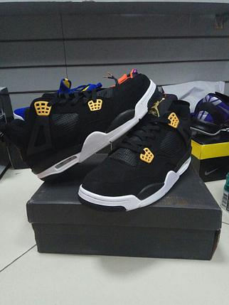 Баскетбольные кроссовки Nike Air Jordan 4 Retro черные, фото 2