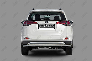 Защита заднего бампера Toyota RAV-4 2015- двойная D 60,3х42,4