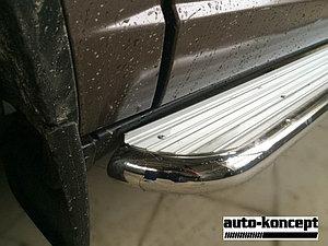 Пороги стальные с площадкой Toyota Rav-4 2015- D 60,3