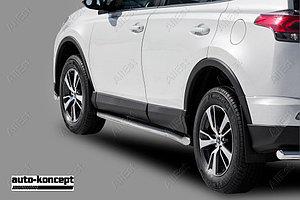Пороги стальные Toyota Rav-4 2015- труба D 60,3