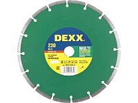 Круг отрезной алмазный DEXX универсальный, сегментный, для УШМ, 230х7х22,2мм