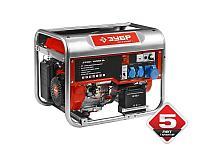 Генератор ЗУБР бензиновый, 4-х тактный, ручной и электрический пуск, 6200/5700Вт, 220/12В, фото 1