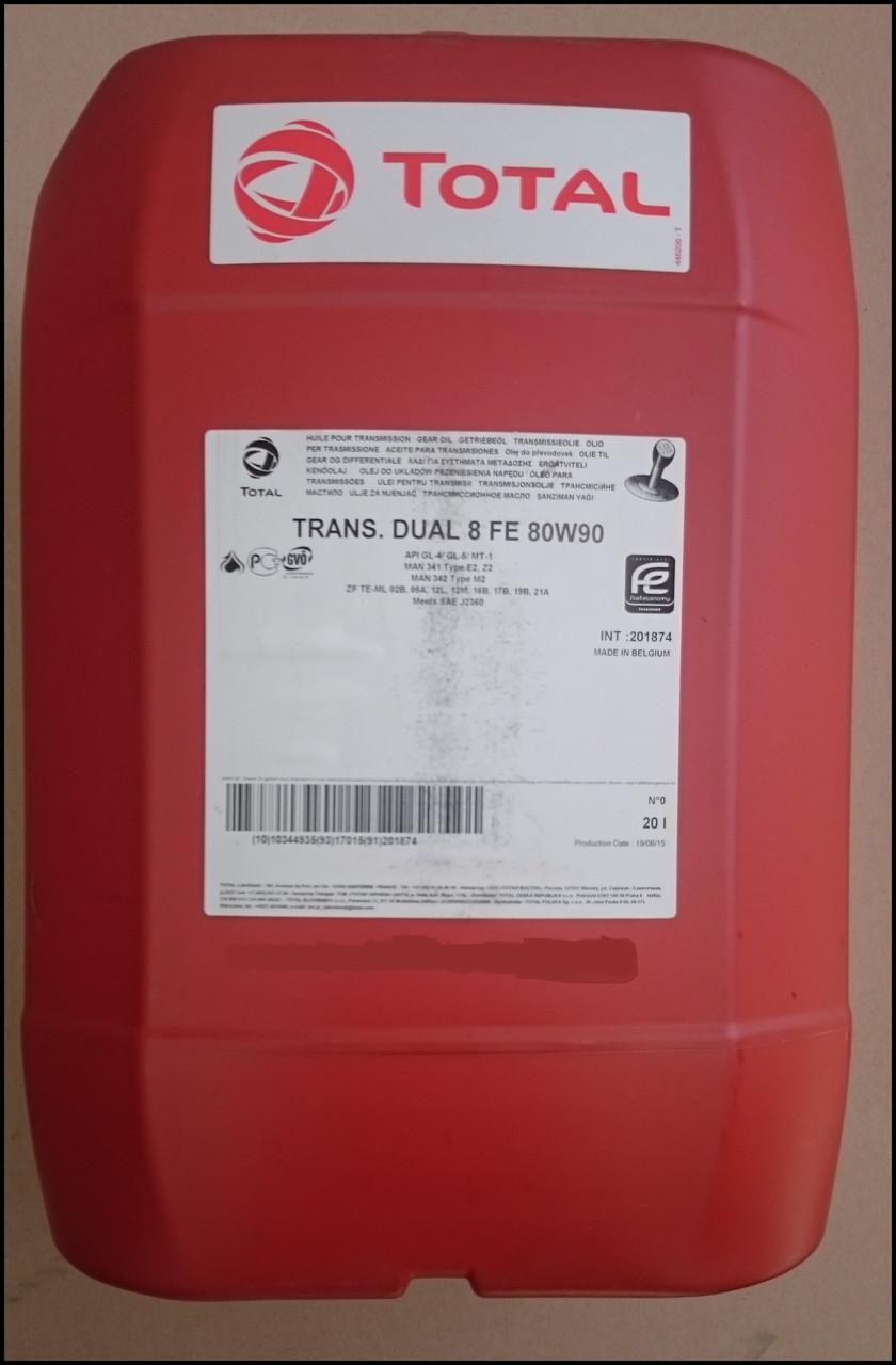 Трансмиссионное масло на синтетической основе Total TRANSMISSION DUAL 8 FE 80W-90 20л. для МКПП, Мостов