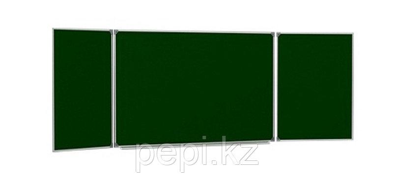 Доска для магнитно-меловая 3-х элементная, зеленая