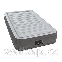 Кровать надувная Intex  99х191х33 см, max 136 кг Intex 67766, поверхность флок, встроенный насос