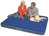 Кровать надувная Intex 137x191x22 см, max 273 кг, Intex 68758 поверхность флок, фото 1