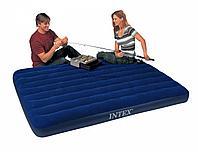 Кровать надувная Intex 152x203x22 см, max 273 кг, Intex 68759 поверхность флок, фото 1
