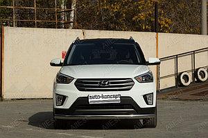 Hyundai Creta 2016- Защита передняя (Овал) D 75x42